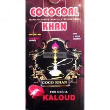 Уголь для кальяна кокосовый COCOCOAL KHAN KALOUD 1 кг.