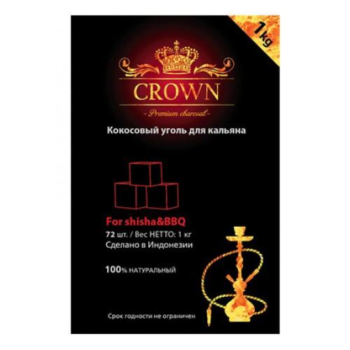 Уголь для кальяна кокосовый CROWN 72 куб.(1 кг.)