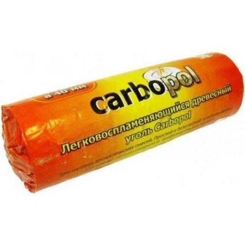 Уголь быстровоспламеняющийся Carbopol (Карбопол) 40 мм